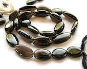 ON SALE Smoky Quartz Smooth Oval Nuggets, 16 inches, 14.75mm to 21.75mm (8w9b)