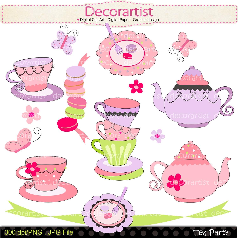 clipart tea party invitation - photo #20