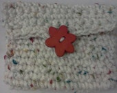 Change Purse or Card Holder in White with flecks of color