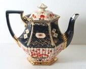 Mid-1800s Hexagonal Teapot w Silver Spout
