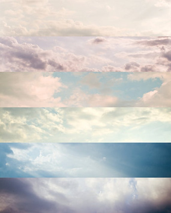 gift under 50 Sky photography cloud photography 8x10 fine art cloud photo abstract wall art sky photo navy pink yellow blue