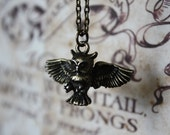ON SALE Owl Necklace