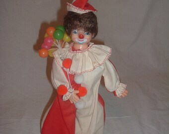 Vintage toy circus clown decoration