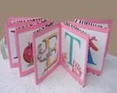 Personalized Baby Book Medium Sz  Name Gift  Custom Cloth Print Keepsake Original Handmade Quiet Book