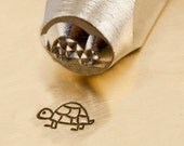 Turtle Tortoise Design Stamp 6mm Metal Punch for Jewelry Blanks Larger Size