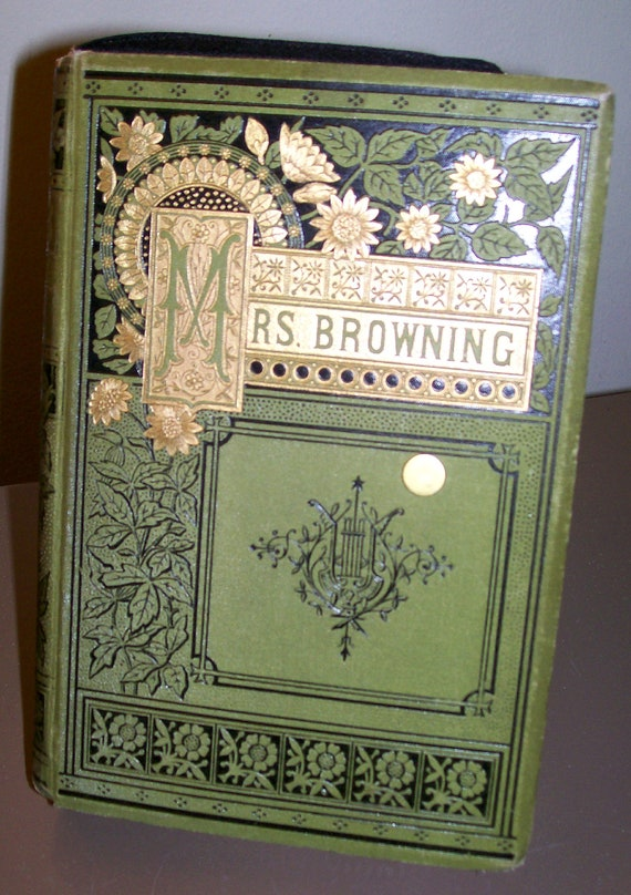 Book Clutch Elizabeth Barrett Browning Mrs Browning's Poems 1882 Hardcover Antique Vintage Edition Literary Book Clutch Ready to Ship