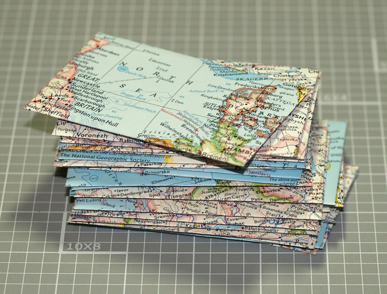 map envelopes     25 mini envelopes   business card size