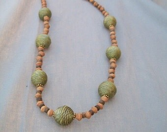 Earthy Delights Necklace with wood beads