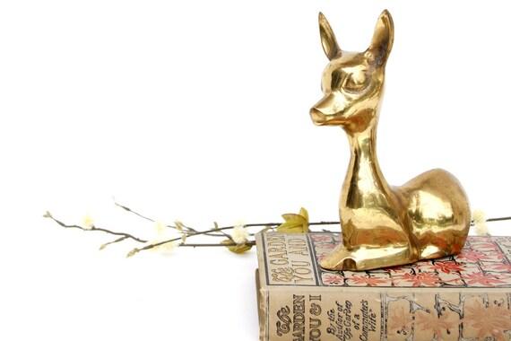 Vintage Brass Fawn - Vintage Brass Deer