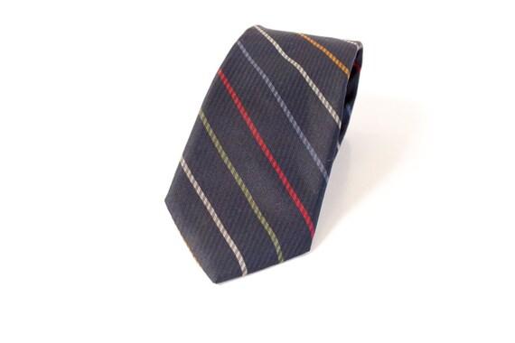 Vintage Yves Saint Laurent Blue Tie with stripes