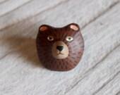 Bear brooch
