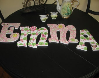 Baby Name Placques for Hanging in Child's Nursery