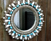 Malibu Wooden Bead Mirror - antique2chic