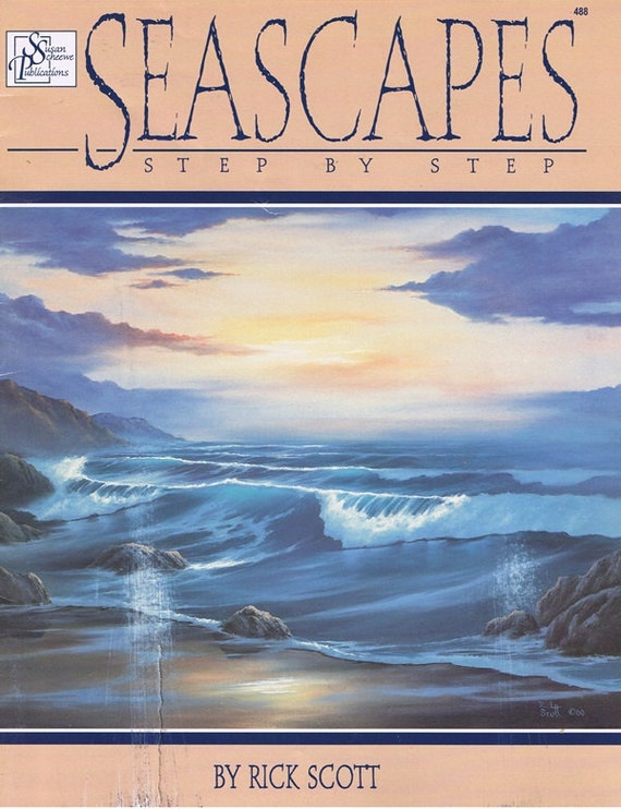 Seascapes Painting Step by Step Learn to Paint Craft Pattern Leaflet