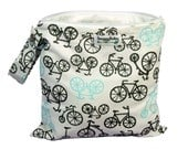 Bicycles Wet Bag For The  Beach, Pool, Cloth Diapers, Mama Cloth and More- Diaper Bag Essential -  FAST SHIPPING
