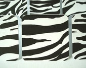 Mini Card Set - Blank Gift Tags - Note Enclosure - Zebra Stripes (Set of 12)