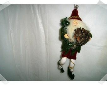 Primitive Elf/Troll/Gnome Doll Ornament/ Holiday Decor*