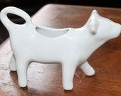 Vintage White Ceramic Cow Creamer