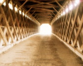 Road to the Past, Sepia Covered Bridge Fine Art Photography, 8 x 10