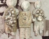 RESERVED LISTING for leopet-2 sets of Embellished Frozen Charlotte Dolls