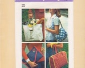 Bag Purse Tote Pattern Simplicity 7004 Vintage Crafts Quilted Fabric Clutch Shopping Shoulder Diaper Styles
