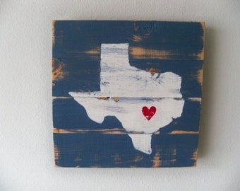 Love Austin, Texas Wooden Wall Art Hanging