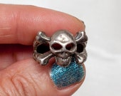 Skull and Crossbones pirate ring FREE SHIPPING