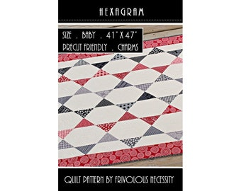 Quilt Pattern PDF Hexagram -- Charm Friendly