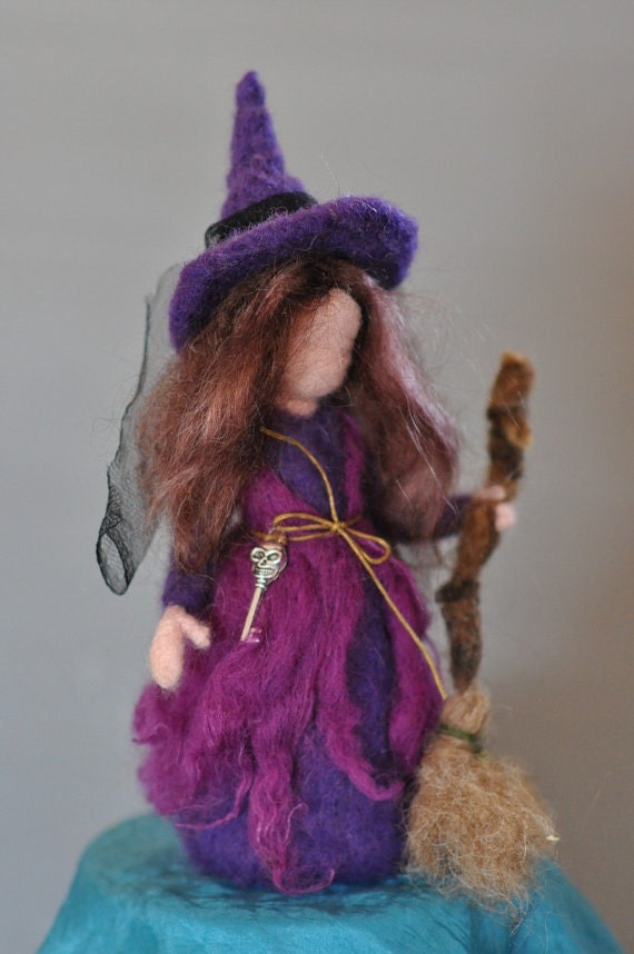 Needle felted Waldorf   standing dolls-soft sculpture-Reserved for Tammy