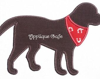381 Bandana Dog Machine Embroidery Applique Design