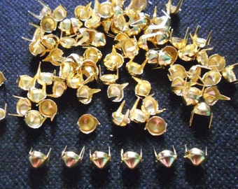 200 pcs Gold Tone Cone Stud spot spike for apparel crafts findings size 6 mm