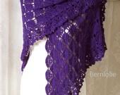 LAUREN, Crochet shawl pattern pdf