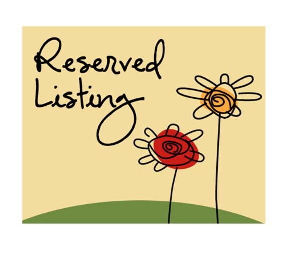 Reserved Listing For Joy