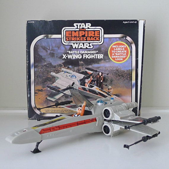 1977 Star Wars X Wing Fighter In Box: Vintage Star Wars Toy 1981 X-Wing Fighter With Original Box