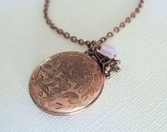 Copper Locket Necklace