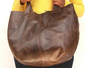 Tote bag Women Market bag  leather shoulder hobo bag Dark brown leather bag market bag library bag ladies laptop bag  hobo bags leather bag