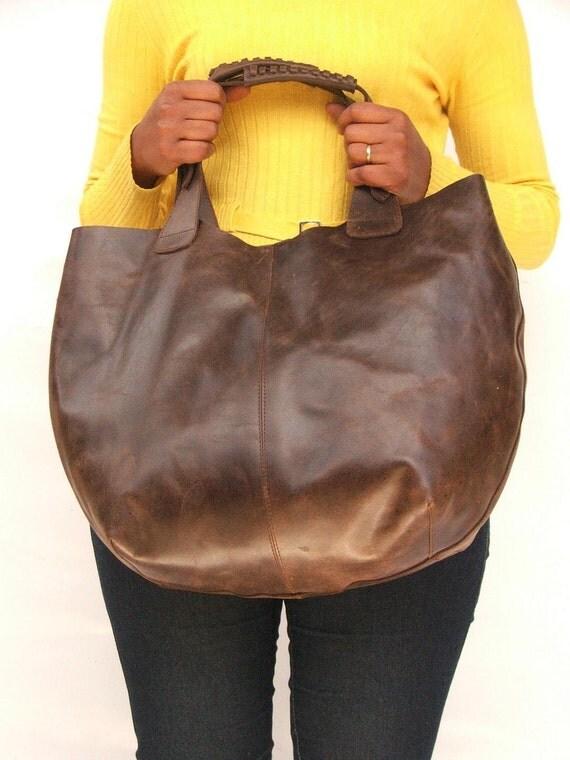 Tote bag Women Market bag leather shoulder hobo bag Dark