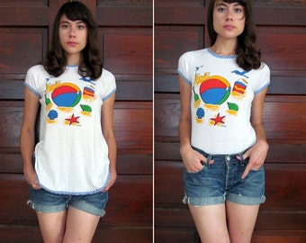 Sale// Vintage SUMMER ALL YEAR Tunic T-Shirt S M