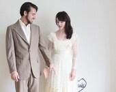 gunne sax prairie wedding dress . ivory boho lace .extra small.xs.xxs .sale