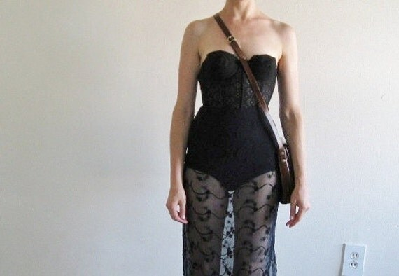 sheer navy embroidered floral skirt .extra small.small .sale s a l e