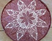 Stoneware Platter 15 in Diameter Lace Burgundy