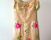 Betsey Johnson Sugar n Spice Floral Painting Slip Dress