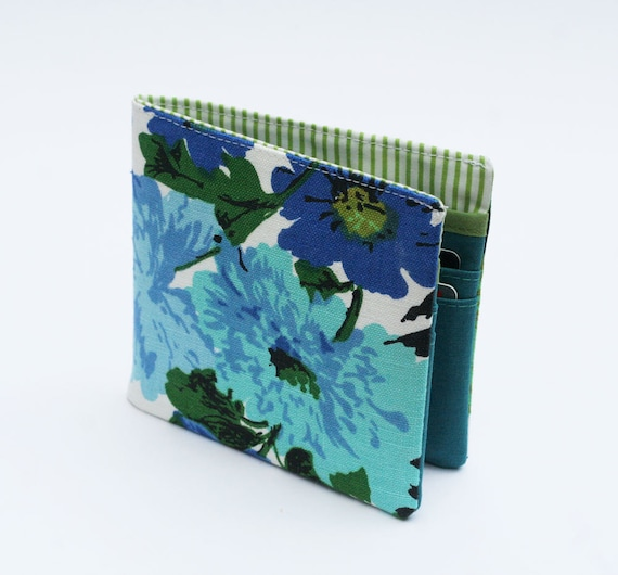 Womens Wallet, Wallet, Billfold Wallet, Vintage Fabrics, Vintage Floral, Handmade by Knotted Nest on Etsy