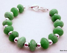 Light Green Saucers Stretchy Interchangeable Watch Band - Medium