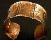 Giant anticlastic copper cuff bracelet