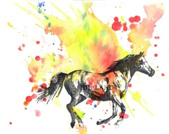 Horse Art Print Animal Watercolor Painting Fine Art Print  8 X 10 in. Horse Painting Art Print Nursery Art Nursery Decor Animal Nursery