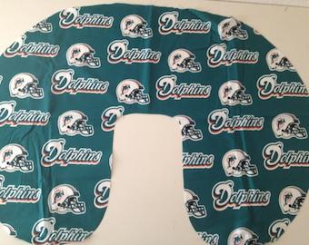 Miami Dolphins Baby - Boppy Cover - Boppy slipcover,Nursing pillow cover, boppy pillow cover, baby shower, gift, nfl, football