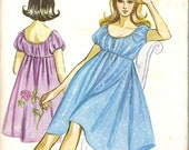 Kwik Sew 1970s Ladies Nighty Designed by Kerstin Martensson
