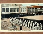 Sand Artist Vintage Postcard, Atlantic City Steel Pier, 1917