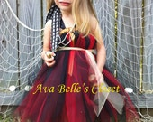 Arrrrgh My little Pirate Halloween Tutu Dress Costume 12m-5T  Birthday Portrait
